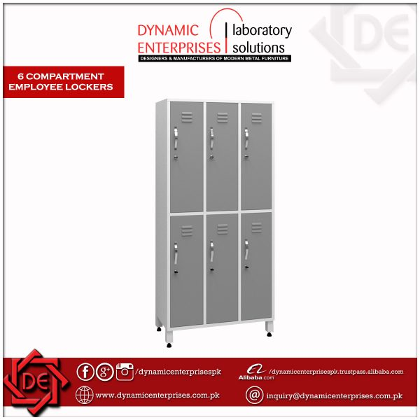 6 Compartment Employee Lockers