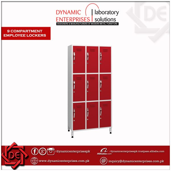 9 Compartment Employee Lockers
