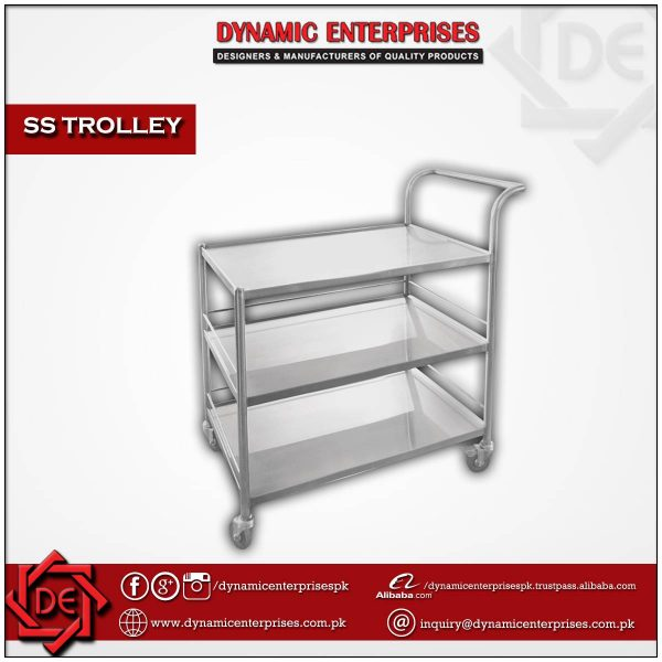 3 Shelves SS Trolley